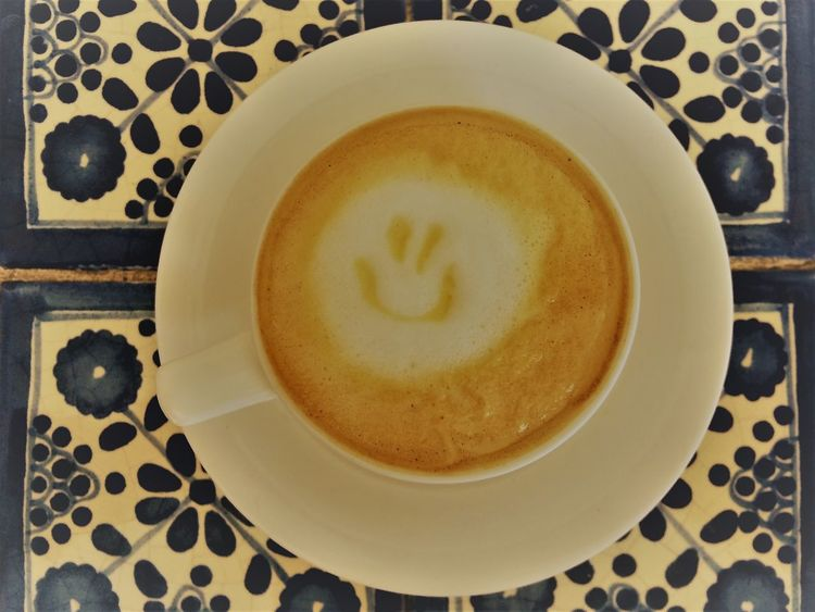 Coffee - Drink Coffee Cup Coffee ☕ Coffelover Day Drink Espresso Macchiato Espresso Maker Food And Drink Freshness Froth Froth Art Frothy Drink Happy :) Healthy Eating Indoors  No People Table