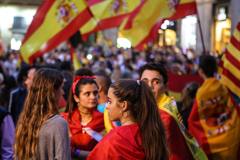 Catalunya Adult Adults Only Crowd Day Enjoyment Fan - Enthusiast Focus On Foreground Large Group Of People Leisure Activity Men Mixed Age Range Outdoors People Real People Red Referendum Togetherness Women The Photojournalist - 2018 EyeEm Awards