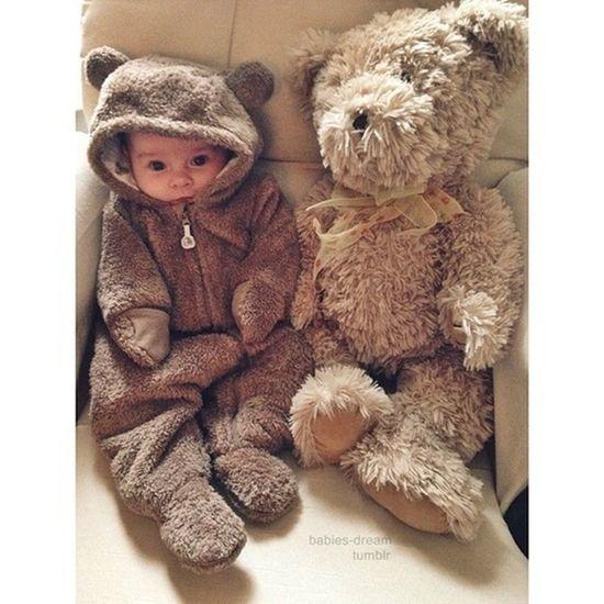 Say Hİ baby. Ahahahaaa so sweet! Uh! Baby Tedybear