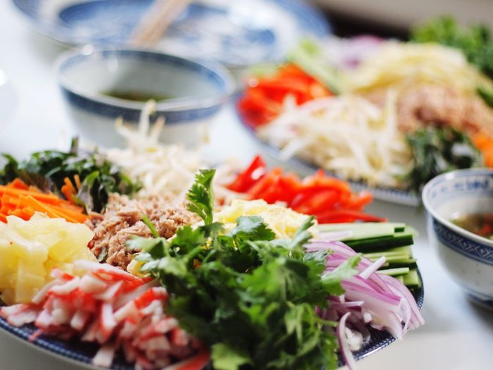 Food And Drink Seafood Healthy Eating Freshness Plate Indoors  Vegetable Meal No People Ready-to-eat Close-up Day Rice Paper Rolls