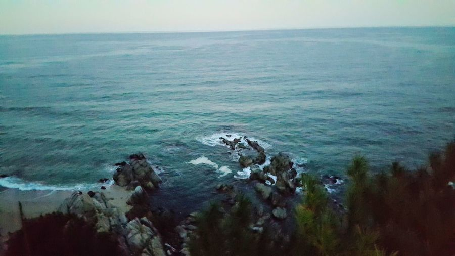Sea Water Scenics - Nature Beauty In Nature Tranquil Scene Sky Horizon Over Water Horizon Tranquility Nature Outdoors No People Day Land Seascape High Angle View Idyllic Beach Non-urban Scene