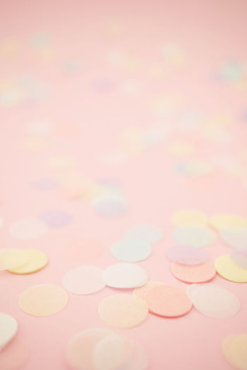 Party background with confetti Backgrounds Defocused No People Multi Colored Large Group Of Objects Pastel Colored Close-up Copy Space Celebration Pink Color Colored Background Valentine's Day - Holiday Party Background Paper Pastel Nobody Copy Space