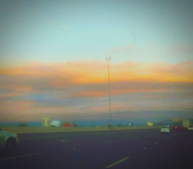 Car Sky Outdoors Edited Silhouette Cloud Beauty In Nature Tranquil Scene Hwy Traffic