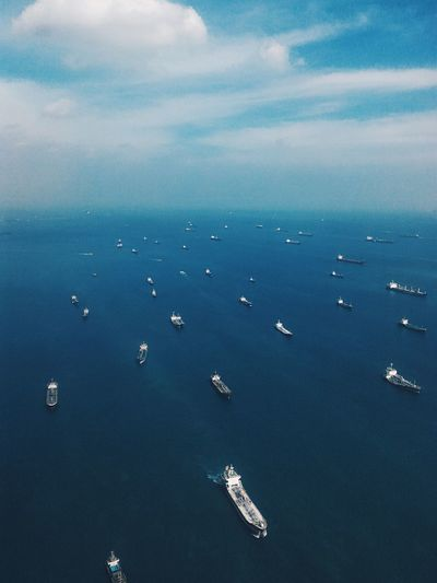 Water Transportation Sea Nautical Vessel Mode Of Transport Scenics Horizon Over Water Blue Blue Sky Blue Sea Ocean Ships Sea Vessels Shipping  Sea Freight Perspectives On Nature An Eye For Travel Visual Creativity Adventures In The City The Traveler - 2018 EyeEm Awards