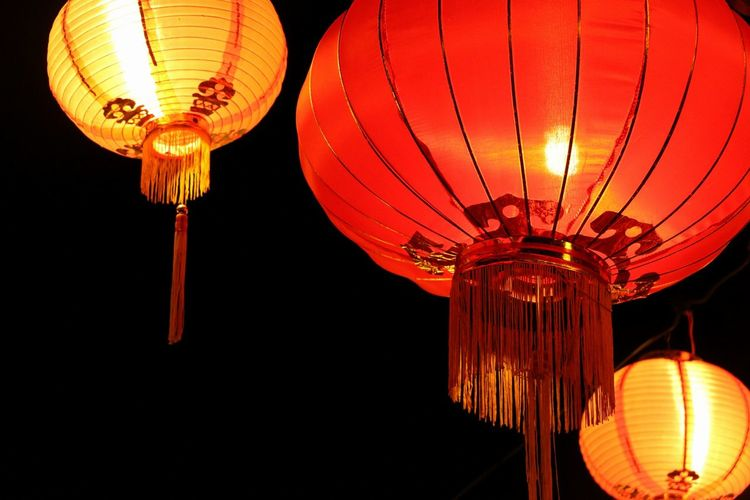 Chinese Lantern Chinese Lantern Festival Cultures Night Lighting Equipment Red