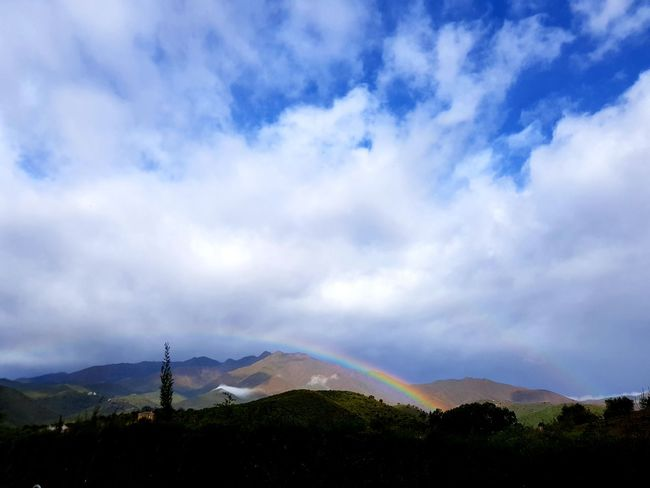 Andalucia l Clouds And Sky Clouds And Rainbow Nature Mountains Rainbow Regenbogen Sky Rain Landscape EyeEmNewHere