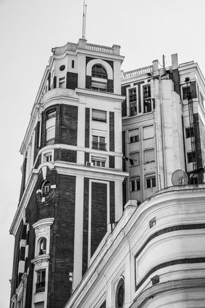 Building Exterior Built Structure Architecture Low Angle View Window No People Outdoors History Architectural Column The Past Clear Sky Travel Destinations Residential District Building City Day Nature Old City Life Sky Apartment Blackandwhite Bllack And White Photography Eyemphotography Eyem Best Shots