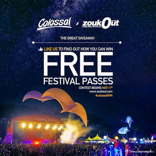 MY FELLOW RAVERS OUT THERE! We're giving away FREE Zoukout 2013 Passes! Follow @colossalphotos to receive updates on how you can win them! Details of the contest will be out on 11th Nov 2013. Terms and conditions apply. ColossalWIN Zouk Zoukout Zouksingapore