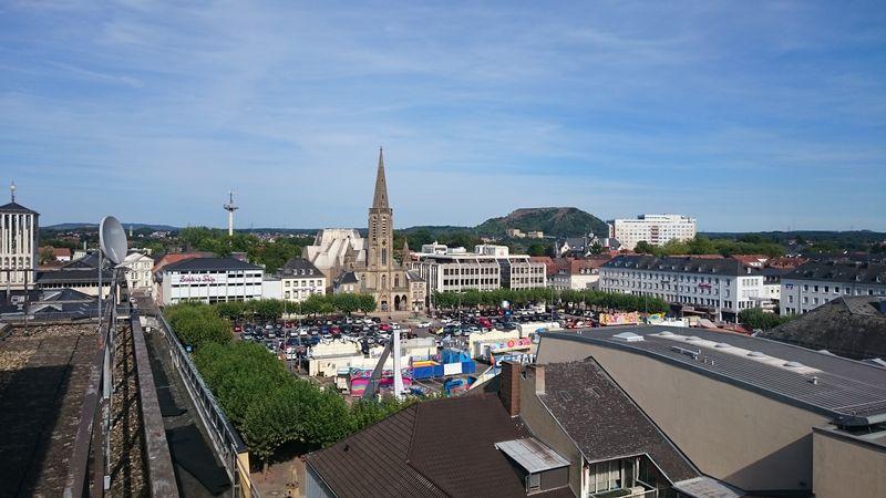 Saarlouis großer Markt von oben