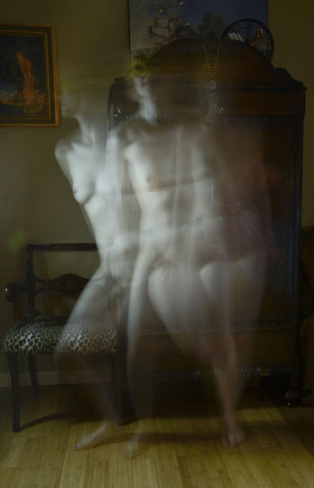 Double Exposure Dreams Full Length Ghost Home Interior Indoors  Mask Movies Moving Night Nude-Art Nude_model Sport Time Woman