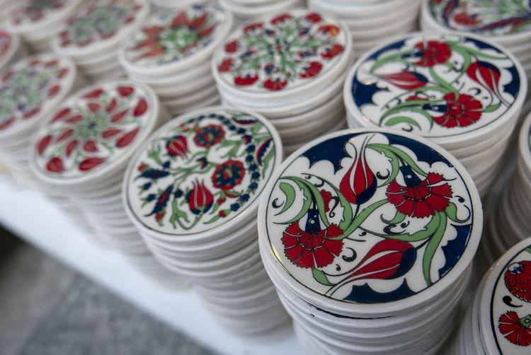 Close-up of souvenir for sale at market