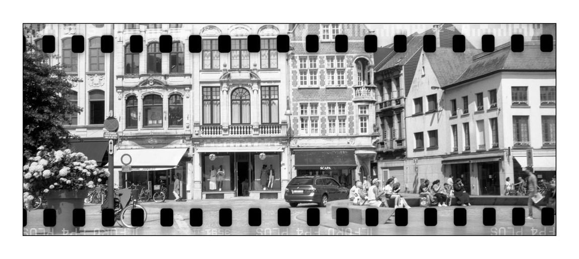 Architecture Blackandwhite Photography Building Exterior Built Structure City Day Film Photography Outdoors Sprocket Rocket Panorama Street