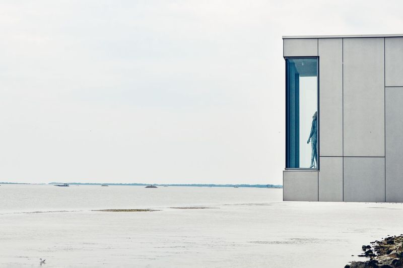 Architecture Minimal Architectural Feature Architecturelovers Built Structure Building Exterior Minimalobsession Minimalist Minimalist Architecture Minimalism Tranquility Scenics Water River Danube Outdoors No People The Week On EyeEm
