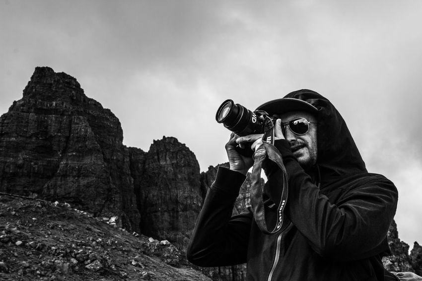 Fellow photographers Mountain Adventure Skye Real People Photographing One Person Scottish Highlands Hiking Scotland Scottish Landscape Scenics Filmmaking Nature Photography Blackandwhite Outdoors The Great Outdoors - 2017 EyeEm Awards EyeEm Gallery Eyeemphotography BYOPaper!