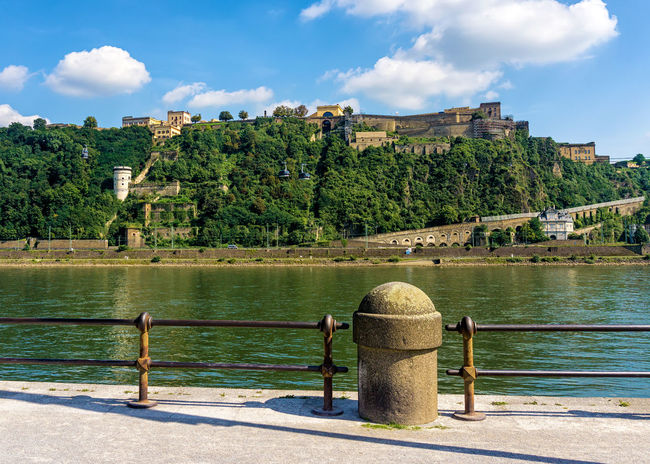 The Fortress Ehrenbreitstein, Koblenz Coblenz Ehrenbreitstein Koblenz River Rhine Architecture Building Exterior Built Structure Castle Deutsches Eck Fortress Germany No People Outdoors River Water