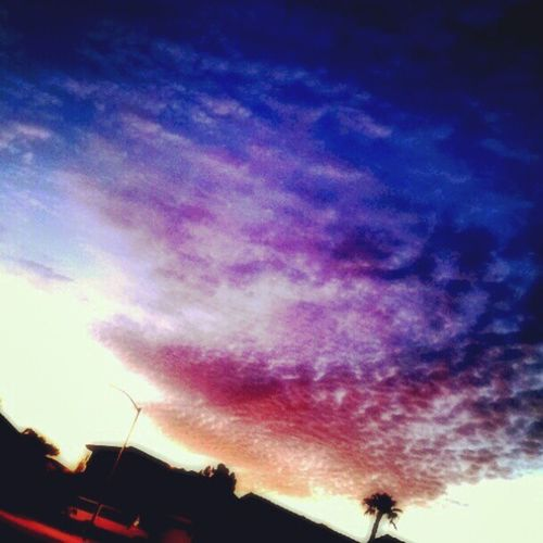 Sunrise AZ Azdesert Clouds Goodmorning Purple Magenta Pink Orange Blue Neighborhood Houses
