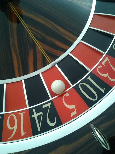 Gambling Shadows & Lights Ball Bet No People Red And Black Colour Reflections Roulette Wheel White Ball Winning Number