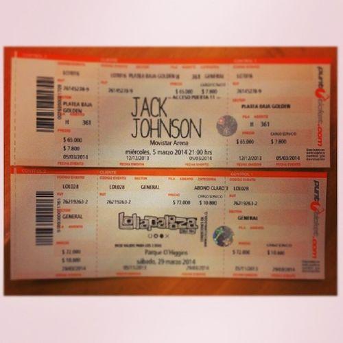 Y ahora solo queda esperar!!! @jackjohnson Jackjohnson Tour2014 Lollapaloza2014 Redhotchilipippers soundgarden chile musica rock