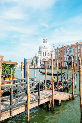 Landscape of venice in Italy Venice Venice, Italy Italy Travel Travel Destinations Summer City Water Architecture Built Structure Building Exterior Sky Nautical Vessel Cloud - Sky Nature Wood - Material No People Religion Day Wooden Post Post Place Of Worship Canal Outdoors Gondola - Traditional Boat