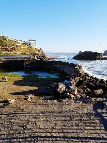 sutro baths Sunny Blue Sky Rocks Shadows Cliffhouse No People Scenics Clear Sky Beauty In Nature Sunlight