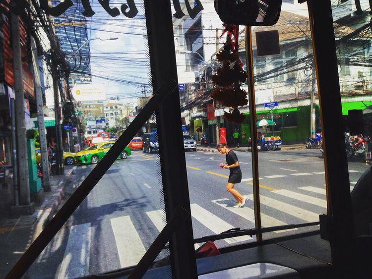 Urban routine. City Bangkok Urban Enjoying Life Life Street People Streetphotography Bus On The Road
