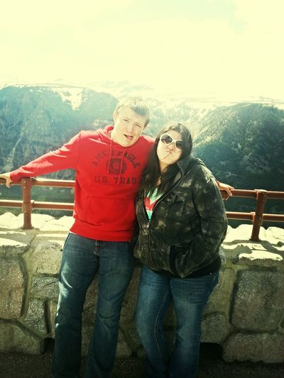 Brother Sister Love :) Beartooth Pass Mountains Montana