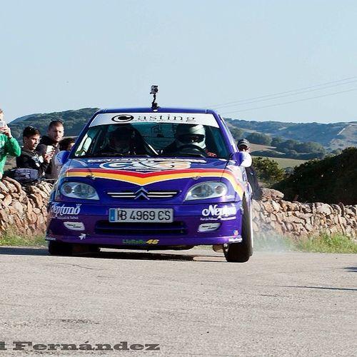 J.Alvarez y Esteve Alzina Rally Esprint Isla Menorca 4 clasificado y subcampeón de baleares balears enhorabona