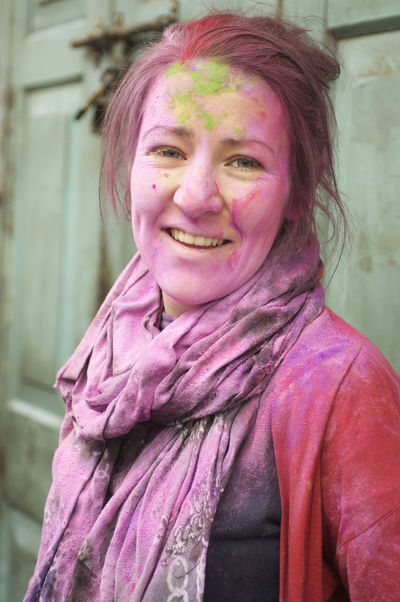 Holi Celebrations in India Fun Holi Festival Holi Festival Of Colours India Pink Beautiful Woman Celebration Darjeeling Festival Happiness Holi Holi Holi Festival India Holi Powder Leisure Activity Looking At Camera Mid Adult Women Powder Paint Real People Smiling