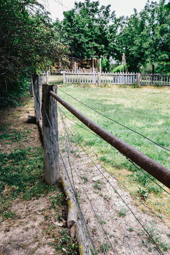 Agriculture Australia Day Farm Farm Fence Farming Fence Field Grass Nature No People Outdoors Rural Sky Tree