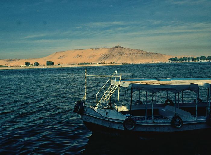 Transportation Sea Water No People Mountain Outdoors Nature Sailing Gondola - Traditional Boat Astrology Sign Sailing Ship Cloud - Sky Travel Destinations Vacations Travel Tourism Natural Pattern This Is Egypt ❤ My Egypt Resolution The Land Of Beauty Aswan ♥♥ Aswan, Egypt Landscape Beauty In Nature Nature