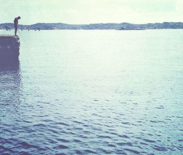 Fishing man Sea EyeEm Best Shots Edited