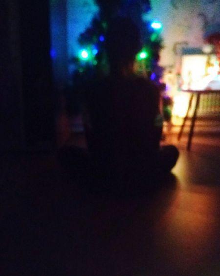воспоминания  Ёлка новый🎄год выходной зима❄️ вечер
