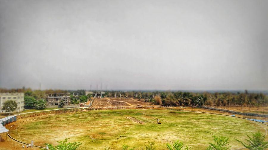 """Green day"" Cricket Field Cricket Ground Cricket Stadium CricketClub Sport Sand Trap Playing Field Sky Grass Landscape"
