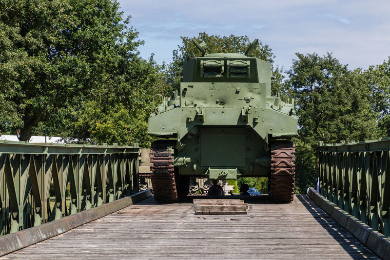 Overlord Museum, Colleville-sur-mer, Normandy, France, July 2017 D-Day Operation Overlord Overlord Museum Bridge Museum Overlord Tank Weapon