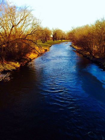 River Run Nature Water Beauty In Nature Scenics Outdoors Tranquility Day Tree Shelter Belt Springtime Spring Is Coming  Blue Water