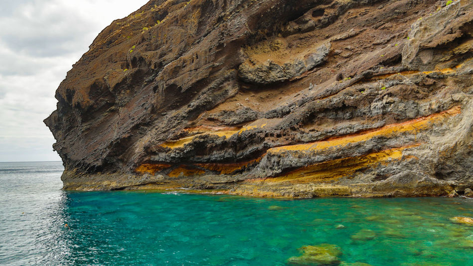 Beach Blue Cliff Day Daylight Daytime Masca Bay Masca Schlucht Masca Valley Nature Non-urban Scene Ocean Outdoors Rock - Object Rock Formation Rocky Sea Shore Sky SPAIN Summertime Tenerife Tranquil Scene Water Waterfront