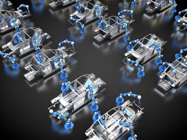 car factory 3d Rendering Automobile Industrial Industry Robots Tech Automobile Industry Automotive Body Chassis Car Factory Car Frame Chassis Factory Framework Large Group Of Objects Manufacture Manufacturing Rendering Robot Robotic Arm Robotic Arms Robotics Safety Cell Technology Vehicle Frame