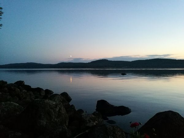 Sunset at friends summer cottage 😊 Clear Sky Lake Landscape Sky Scenics Reflection Silhouette Tranquil Scene Beauty In Nature Mountain Tranquility Nature Blue Travel Destinations Horizon Over Water Night Outdoors Sunset Water No People Skyporn