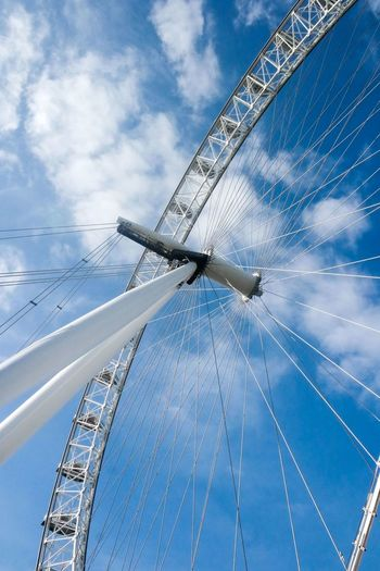 Blue Cloud - Sky Sky No People Day Outdoors Low Angle View Nature Wind Power Water Technology LondonEye Thelondoneye London Your Ticket To Europe