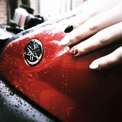 White Black Human Hand Nail Polish Red Fingernail Painting Fingernails
