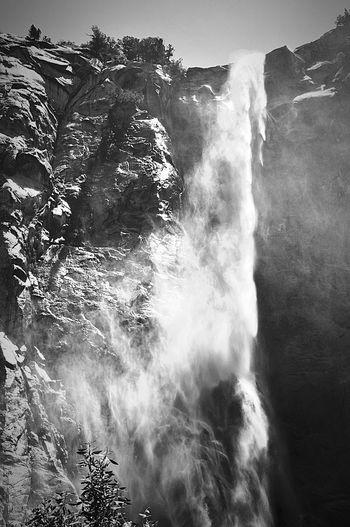 Bridalveil Falls 2 bw Falls, Water,