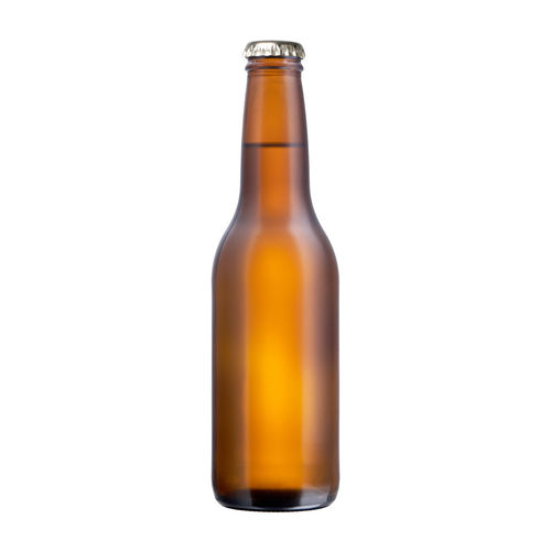 Close-up of glass bottle against white background