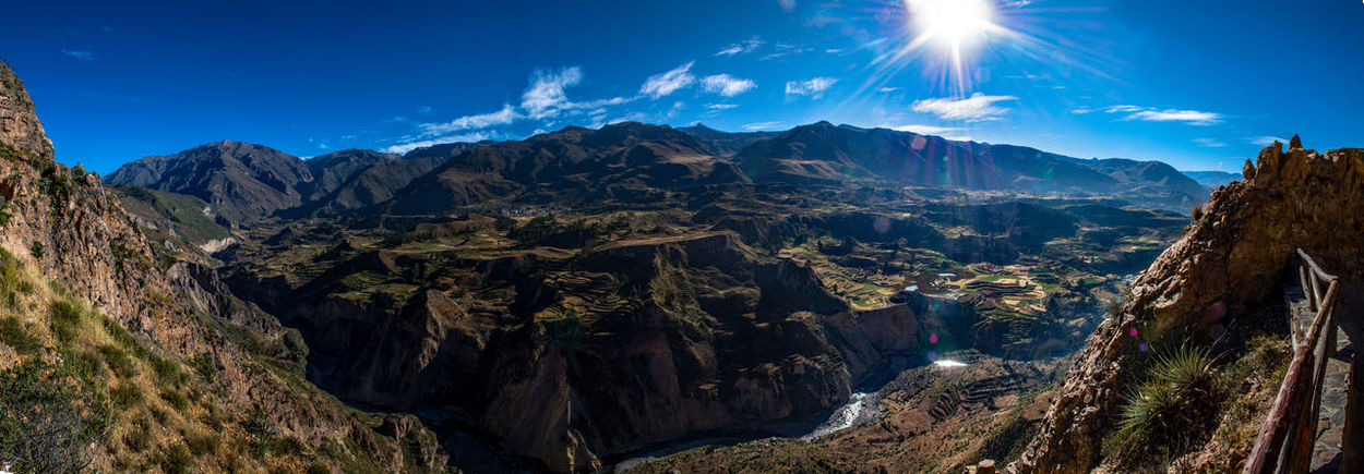 Amazing View Beautiful Nature Blue Sky Breathtaking Canyon Colca Canyon Landscape Panorama Peru South America Stunning Sun Travel Destinations Traveling EyeEmNewHere