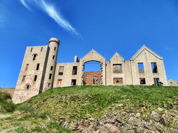 Slains Castle, Cruden Bay, Aberddenshire, Scotland. Aberdeenshire Astardis Castle Cruden Bay Dracula Quality Slains Castle Architecture Bram Stoker Building Building Exterior Built Structure Castle Ruin Day High Quality Photography History Inspiration Nature No People Ruin Ruined Sky The Past