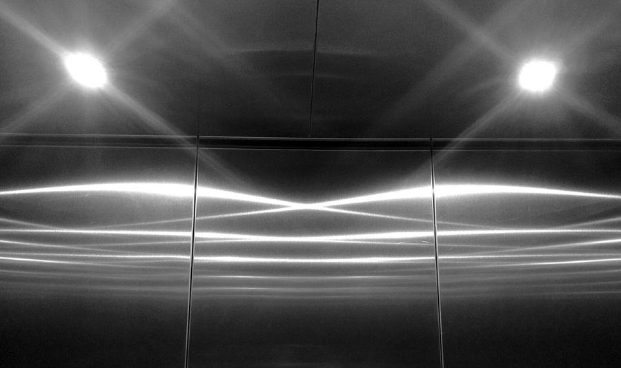 Elevator Lighting Reflection
