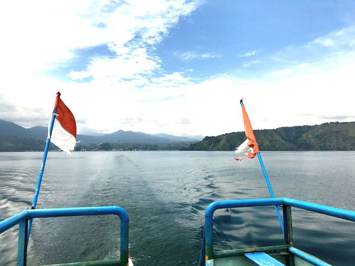 Crossing Lake Toba Ferry Views Danau Toba EyeEm Selects Water Day Sky Outdoors Nature Cloud - Sky Scenics
