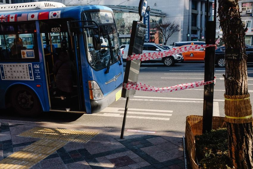 Street Transportation City Bus Bus Stop