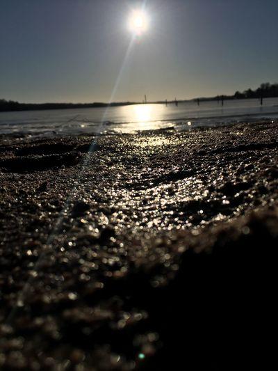 Sand Water Nature Sun Beauty In Nature Sea Beach Scenics Sky Sunlight