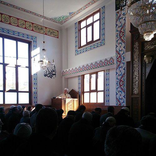 Müftülük Camii'nde ilk hutbe ve ilk namaz eda ediliyor. Yakupcetincom Bozkır Konya Müftülük Namaz