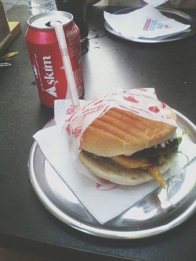 Burgers Eating Dinner